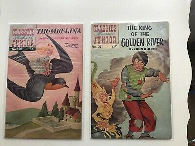 Lot Of 2 Classics Illustrated Junior:  Thumbelina & The King Of The Golden River