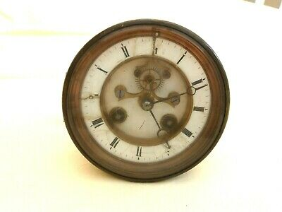 Antique Mantel Clock Front Face And Movement For Spares   1430381/383