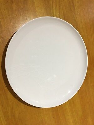 4 X Jamie Oliver, Royal Worcester, White on White, Big Fella Plates