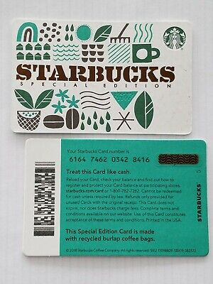 2019 Starbucks SPECIAL EDITION RECYCLED BURLAP series 6164 Gift Card - USA