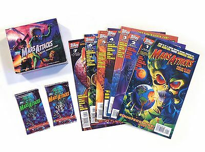 1994 Topps MARS ATTACKS Unopened CARD PACKS DISPLAY BOX Lot of 8 COMICS!!
