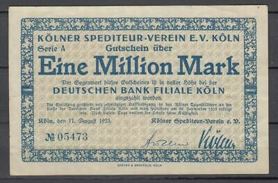 Kölnner Spediteur-Verein E.V. Köln  -  1 Million Mark  -  Serie A