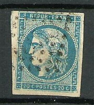 France Type CERES N° 45A le 20 C. BLEU Obl. Emission de Bordeaux. Cote 130€