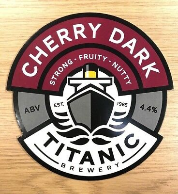 Fruity Cherry Dark Ale Beer Pump Clip Titanic Brewery Stoke White Star Ship