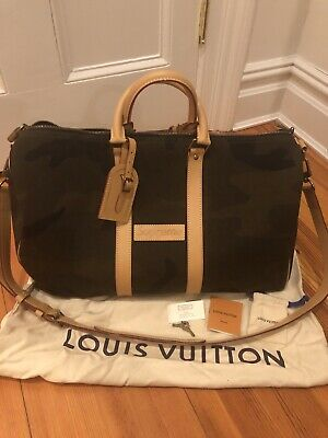 dcd439b72682 LOUIS VUITTON X Supreme Keepall Bandouliere Monogram Camo 45 ...