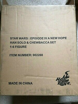 Hot Toys 1/6 Star Wars Episode IV 4 A New Hope Han Solo & Chewbacca MMS263 NEW
