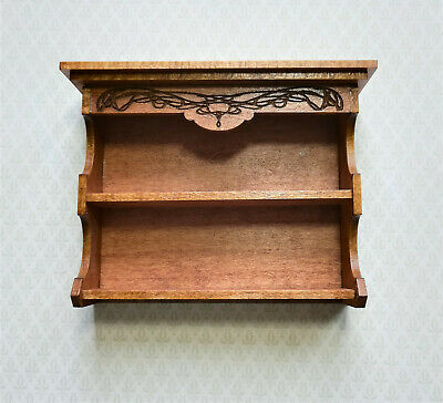 Dollhouse Miniature Victorian Hanging Shelf or Standing Bookcase 1:12 Scale