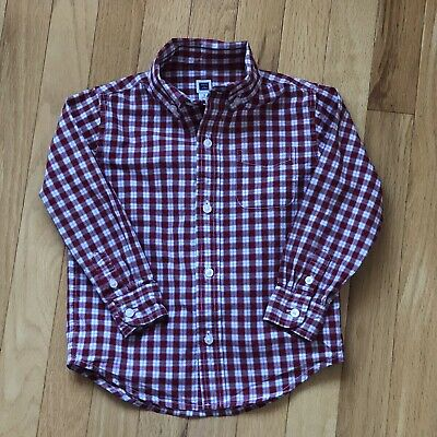 Janie And Jack Little Boy'S Checked Button Down Shirt, 3T, Excellent Condition