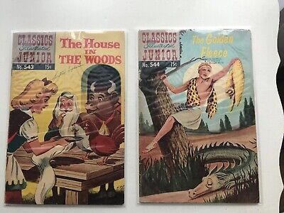 Lot Of 2 Classics Illustrated Jr:  The House In The Woods & The Golden Fleece