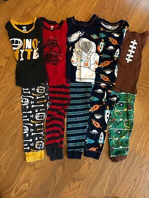 fdbb00e42144 LOT TODDLER BOY Sleepwear Pajamas Carters Garanimals 2T - 5T ...