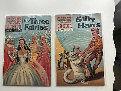 Lot Of 2 Classics Illustrated Jr:  The Three Fairies & Silly Hans