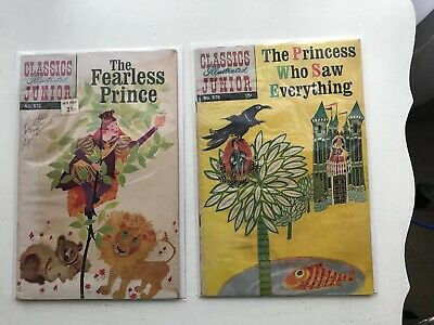 Lot Of 2 Classics Illustrated Jr:  The Fearless Price & The Princess Who Saw