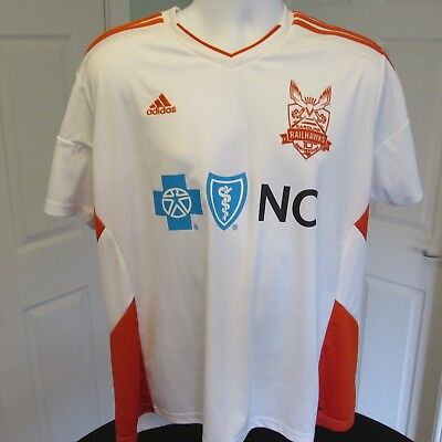 2016 Carolina Railhawks USA Soccer Jersey, Adidas Football Shirt, MINT 2XL RARE