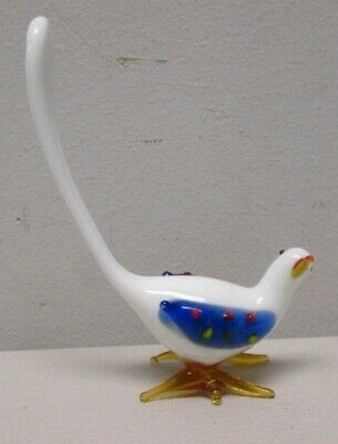 Hand Blown Glass Bird with Long Tail