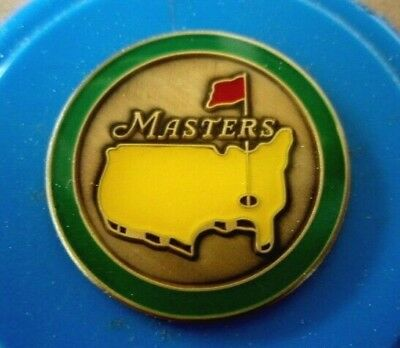 """Us Masters Undated 1"""" Coin  Golf Ball Marker"""