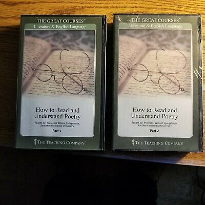 """The Great Courses ~ How to Read and Understand Poetry Parts 1-2 CDs """"NICE SHAPE"""""""