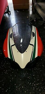 Ducati 1199 s Panigale Tri Colore OEM nose fairing with new Smoke screen RARE