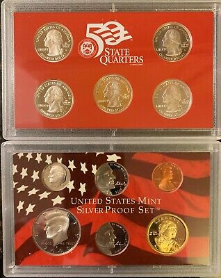 US Mint 2005 Silver Proof Set 11 Coins Includes State Quarters