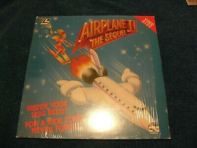 "Laser Disc "" Airplane 2 The Sequel "" Stars Robert Hays , Julie Hagerty & William"