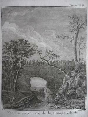 1774 - COOK - NEW ZEALAND Print HOLLOW ROCK