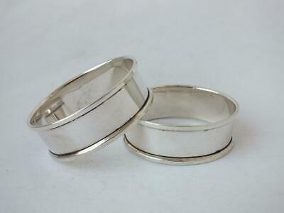 2 Matching Solid Sterling Silver Napkin Rings 1978 & 1980/ H 1.1 cm
