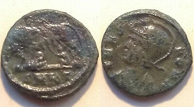 Constantine I 337 AD ancient Roman coin VRBS ROMA she wolf Romulus Remus Cyzicus