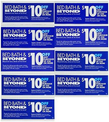 9 Bed Bath and Beyond $10 Off $30 Coupons