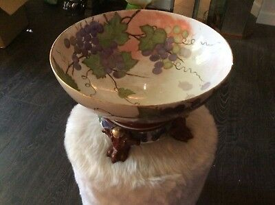 Limoges Punch Bowl, Stand And Plate