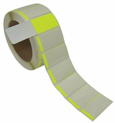 """Self-Laminating Label 1x2 In 3"""" Yellow Roll of 500 BADGER TAG & LABEL CORP 6994Y"""