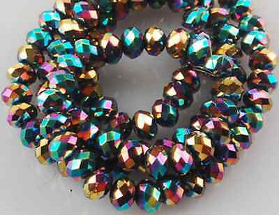 70pcs 5x8mm Multi-Color Crystal Faceted Beads Loose beads AAA