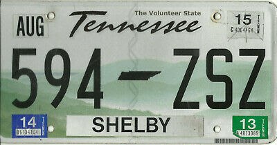 Original Expired 2006 Tennessee Vehicle License Plate Tag #594-ZSZ w/stickers