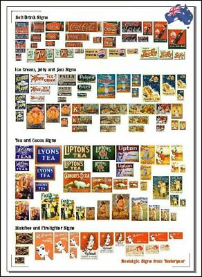 Collection of OLD AUSTRALIAN ADVERTISING SIGNS (1900s – 1950s)