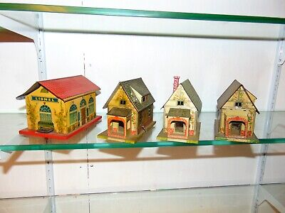 Lot of 3 Lionel Original Prewar #184 Bungalows and #48W Station