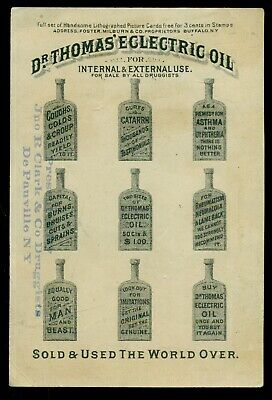 1880's De Pauville,NY-Clark & Co. Druggists Dr. Thomas' Eclectric Oil Trade Card