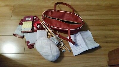 Knitting Bag Tote Yarn Storage Case for Crocheting Hook Sewing Needles Surp