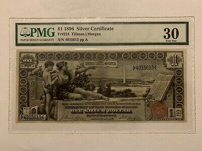 1896 1 Silver Certificate Educational Note PMG 30