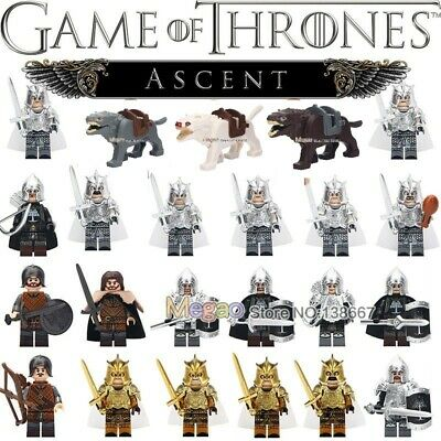 Game of Thrones Stark Military King Army Mini Figure for Custom Lego Minifigure