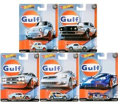 Hot Wheels Car Culture Gulf Racing Complete Set of 5 Cars