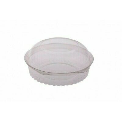 150x Clear Plastic Container w Hinged Dome Lid 20oz/570ml Disposable SPECIAL