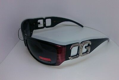 bc7a062fa4 CG Rectangle Women s Logo Burgundy   Black Plaid Sunglasses UV 400 GRADIENT  NWT