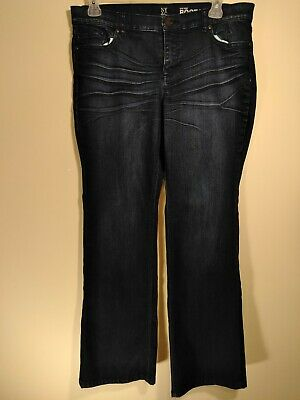 New York & Company Dark Wash Low Rise Boot Cut Jeans Size 16 Petite NY & Co