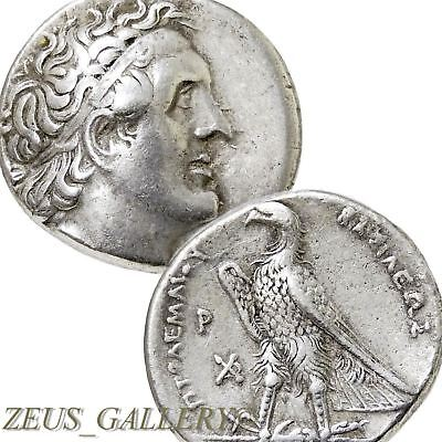 "PTOLEMY I  ""Delta Master"" Δ Artist Signed Ancient Greek Silver Tetradrachm Coin"