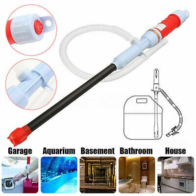Pump Pipe Electric Oil Water Petrol For Liquid Transfer Home Battery Operated