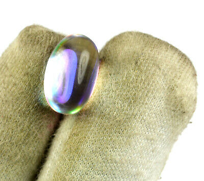 Brazilian 9 Ct Rainbow Mystic Topaz Loose Gemstone Oval Cabochon VS Clarity