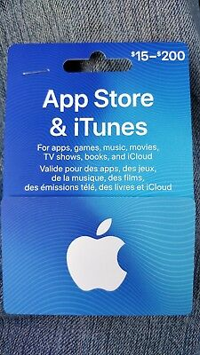 iTunes gift card CAD$15 Canadian