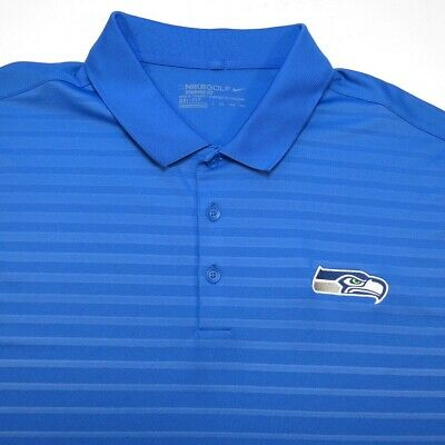 NEW NIKE GOLF DRI FIT SEATTLE SEAHAWKS NFL FOOTBALL POLO SHIRT Sz Mens XXL aa353ab59