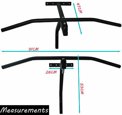 ~Pull Up Bar Ideal For Cross Fit Workout Wall Mounted Iron Chin Up Push Up