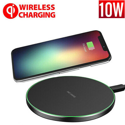 Fast Qi Wireless Charger Dock For iPhone X 8 plus XR XS Samsung S8 S9 plus UK