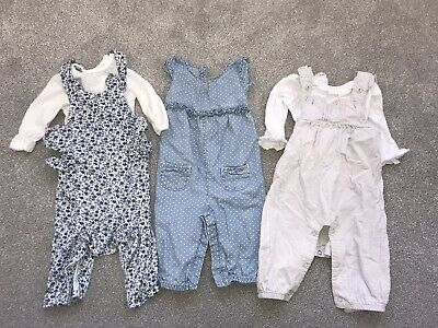 Baby Girl Dungaree Bundle 3-6 Months Mothercare And Next