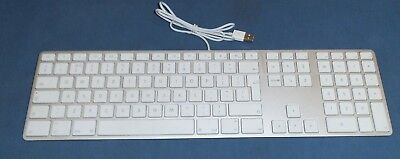CHEAP GENUINE APPLE USB Wired A1243 Silver UK Keyboard Clean